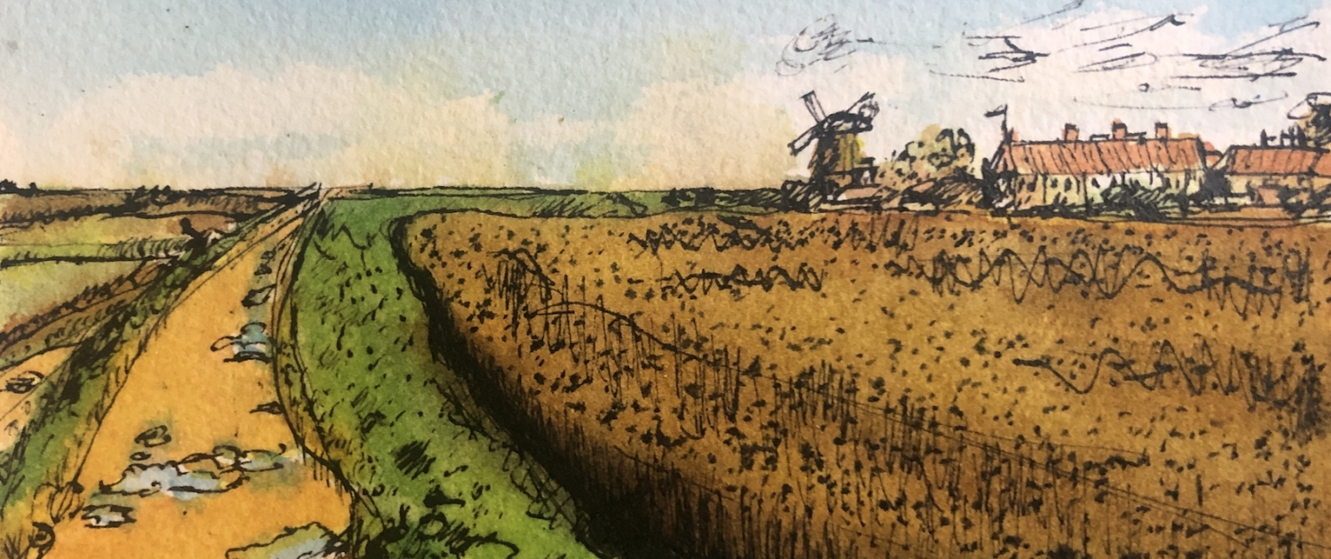 cley marshes ink dwg sml